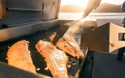 Fresh Salmon cooked aboard Seafood Odyssea Cruise